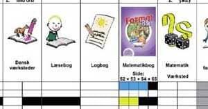 børnehaveklasse og ugeskema