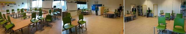 Indretning af klasseværelse - før og efter